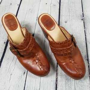 Frye Candy Lace leather mules
